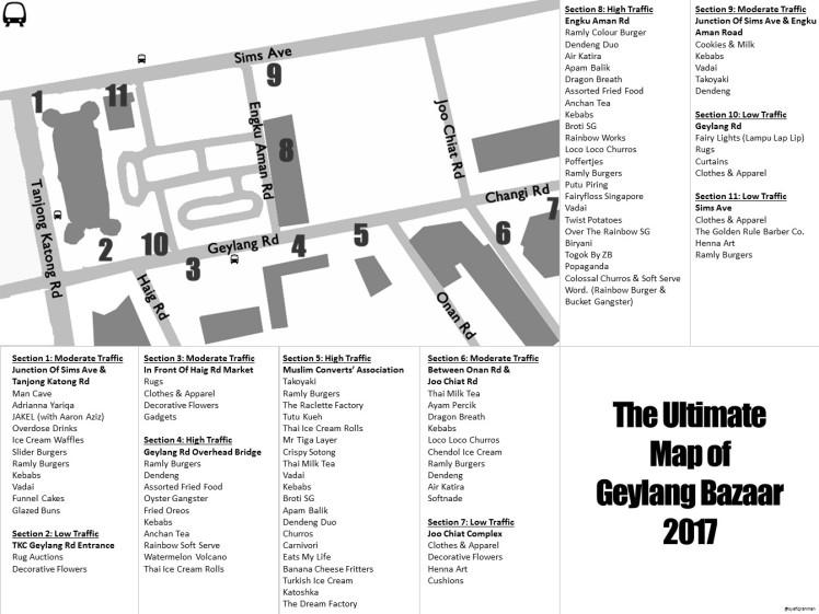Geylang Bazaar Map